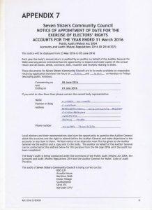 Audit Notice 2016